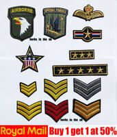 Military Army style Patches Badges Iron On Sew On