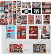 30 VINTAGE GARAGE RETRO SIGNS DECALS FOR GAS STATION DECOR 1:24 Scale Diorama !