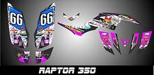 Yamaha raptor 350 YFM350 SEMI CUSTOM GRAPHICS KIT YIGIT