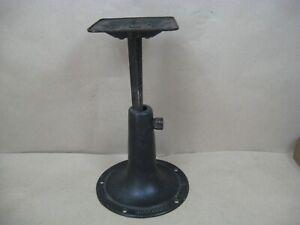 "Antique Heywood Wakefield Cast Iron Adjustable Pedestal Table Base 9"" - 14"""