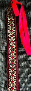 Elton Vintage Trachtenkrawatte, rot, Trachten, Krawatte, Binderl,