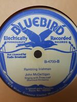 John Mcgettigan bluebird 4700  Irish  78 rpm