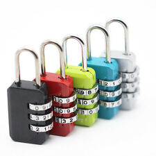 3 Dial Digit Combination Suitcase Luggage Password Code Lock Padlock Travel NEW