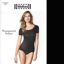 SALE • Wolford Transparent Nature Shirt • M • black  ... weich und natürlich