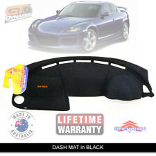 Black Dash Mat to Suit Mazda RX-8 All Models Luxury FE 6/2003-12/2008 RX8 DM938