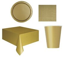Hobbycraft Different Colours Paper Plates 8 Pack Tableware Party Decoration Gold 3325