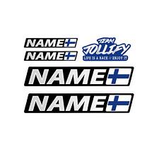 Request name Finland Flag Driver Name 10cm Sticker Car Bike Motorcycle Helmet