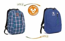 Zaino INVICTA - TWIST - double face - 2 zaini in 1 - Blue REVERSIBILE 23 LT