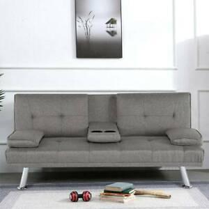 NEW SCANDI STYLE FABRIC GREY Modern Luxury Design 3 Seater Sofa Bed recliner