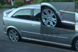Fits Vauxhall Opel Astra G MK4 GSI - Rear Wheel Arch Spats