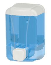 Seifenspender, Flüssigseifenspender Kunststoff Wandmontage 500ml blau