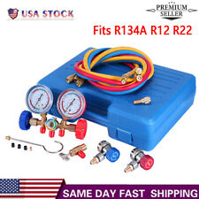 New listing 3Ways Ac Diagnostic Manifold Gauge Set For Freon Charging R134A R12 R22 Nozzle