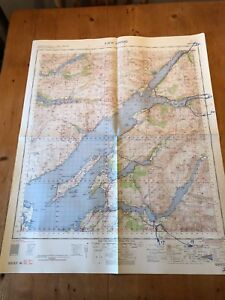 "HUGE 1961 RAF WAR OFFICE & AIR MINISTRY ""LOCH LINNHE"" (35.5"" x 29.5"") CHART MAP"
