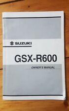 Suzuki GSXR600 K3 Owners Manual