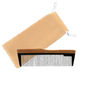 Pocket Comb Ox Horn & Wood Handle Fade Combover Stubble Hair Style Birthday Gift