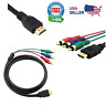 HDMI Male to 3 RCA Video Audio AV Cable Adapter For 1080P HDTV DVD