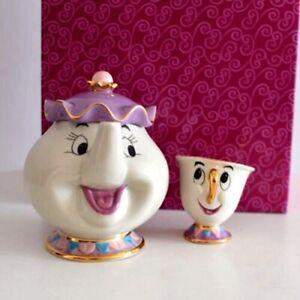 Beauty And The Beast Teapot Mug Mrs Potts Chip Tea Pot Cup Set Ceramic Xmas Gift