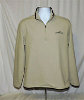 Eddie Bauer Thick Beige Fleece Pullover Sweater 1/4 Zip  Men's Size Small