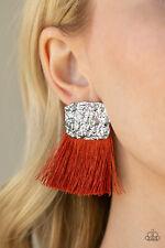 Bloom - Orange~Fringe~Nwt~2650 Paparazzi Jewelry Earring ~Plume