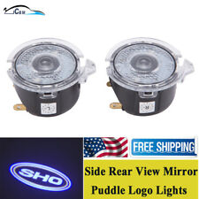LED Side Rear View Mirror Puddle Light SHO Logo Fit for Ford Taurus SHO 2010-18