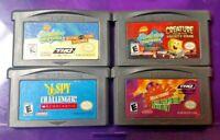 Nintendo Game Boy Advance GBA Lot Nickelodeon 3 Different Spongebob Squarepants