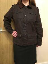 Womens Mc Orvis Brown Waxed Coat Jacket - Size M
