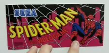 Spider-Man arcade marquee sticker. 3.75x8.5. (Buy any 3 stickers, Get One Free!)