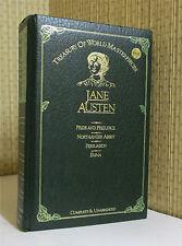 WORKS OF JANE AUSTEN, Leather, PRIDE AND PREJUDICE, EMMA,   MORE!!