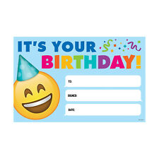 CTP 0696 EMOJI Happy Birthday Cards Classroom Decorations Teacher Supplies