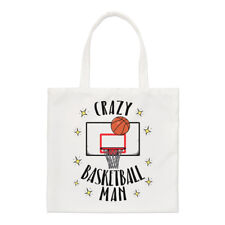 Crazy Basketball Man Regular Tote Bag Funny Shopper Shoulder