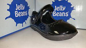 Jelly Beans Nona Toddler Girl's Shoes Black / Black PT Flower Size 4-8