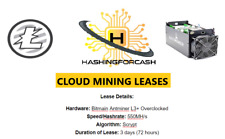 3 days 550MH/s Litecoin Mining Crypto Rental LTC Server Lease ANTMINER L3+ ASIC