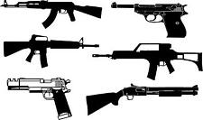 6 guns #2 vinyl wall decals