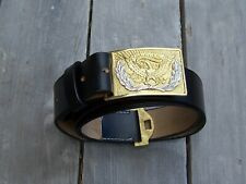 Us officers belt with eagle buckle