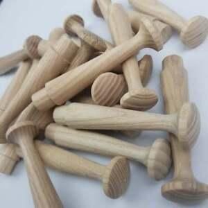 OAK Hardwood Custom Shaker Peg Wooden Hook hanger for Coat Mug Hat Towel