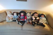 1 Lot Of 6 Little Souls Hand Made Collectible Dolls, Mint!