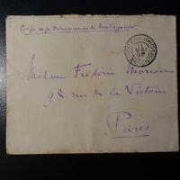 MADAGASCAR LETTRE COVER CORPS EXPÉDITIONNAIRE 1896 POSTE AUX ARMÉES