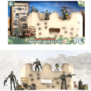 World Peacekeepers Military Assault Unit Includes 3 Army Toy figures