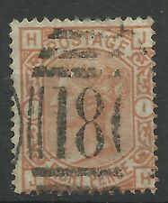 1873 Sg 156, 8d Orange (JH)  fine used.