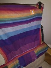 Tula Toddler. Full Wrap Conversion. Girasol Mystic Rainbow.