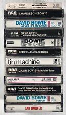 12x DAVID BOWIE Cassette Tape Lot: RARE Ziggy Stardust Diamond Dogs Aladdin Sane