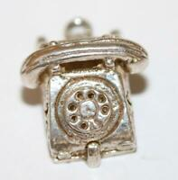 Telephone Opening to ABC Sterling Silver 925 Vintage Bracelet Charm 3.4g