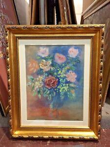 blue flower original watercolor floral painting