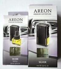 Areon qualité voiture parfum luxe Désodorisant Longue Durée Argent 8 ml