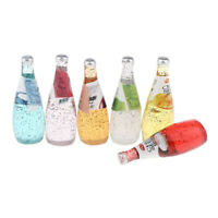 Dollhouse Miniature 6 Pieces Cocktail Bottles Set Drink Model for 1:12 scale