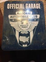 Official Garage National Automobile Club Double Sided Sign