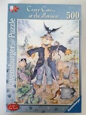 Ravensburger 500 piece jigsaw puzzle Crazy Cats At The Allotment