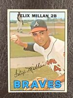 1967 Topps Felix Millan #89 NM-MT Rookie RC Atlanta Braves 2B