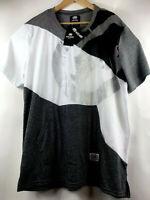 Ecko Unltd Mens L Graphic SS T-Shirt Silver Black Logo Print Tee Size Large $34