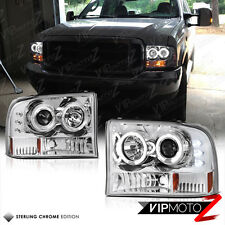 1999-04 Ford F250/F350/F450 SUPERDUTY SD L+R Angel Eye Halo Projector Headlight